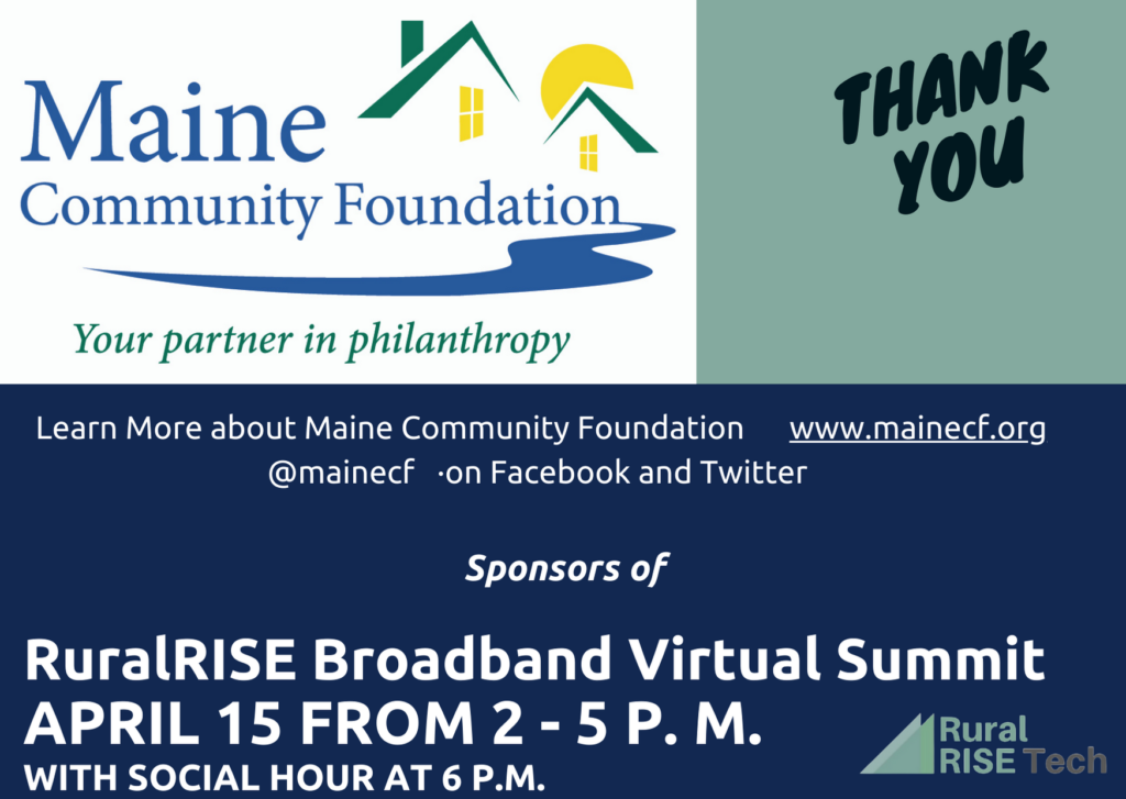 Thanks to our sponsors, Main Community Foundation!