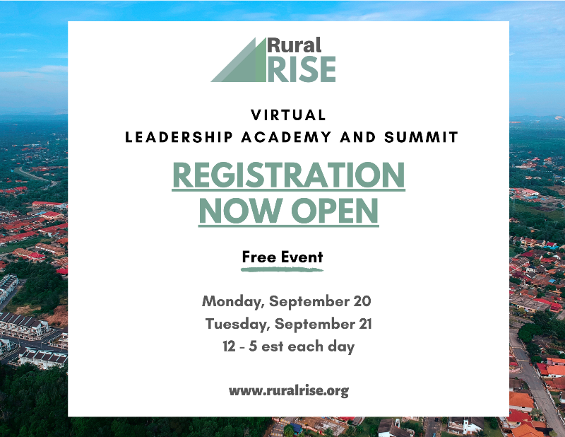 Register for the 2021 RuralRISE Virtual Leadership Academy and Summit