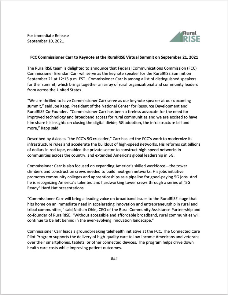 Link to the FCC Press Release